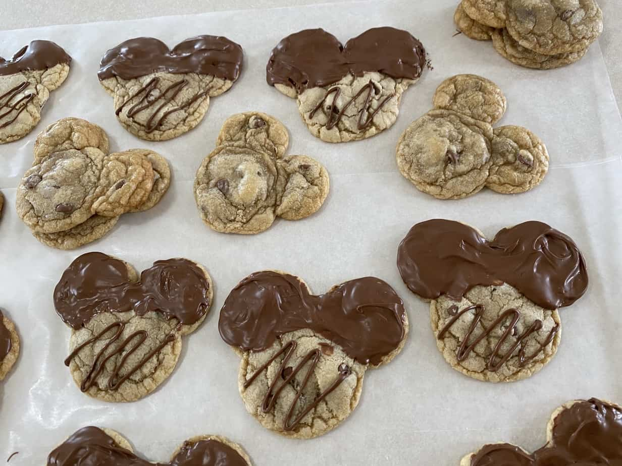 Mickey Mouse Chocolate Chip Cookies