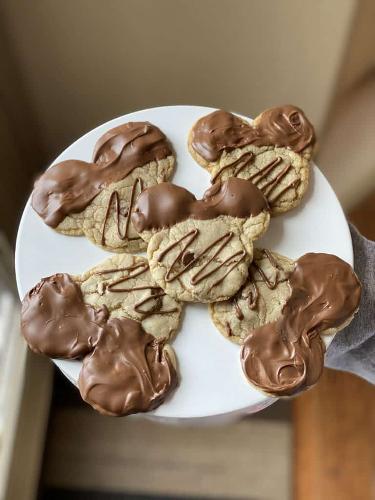 Chocolate Dipped Mickey Cookies