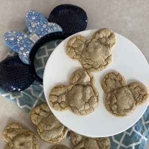 Mickey Shaped Chocolate Chip Cookies