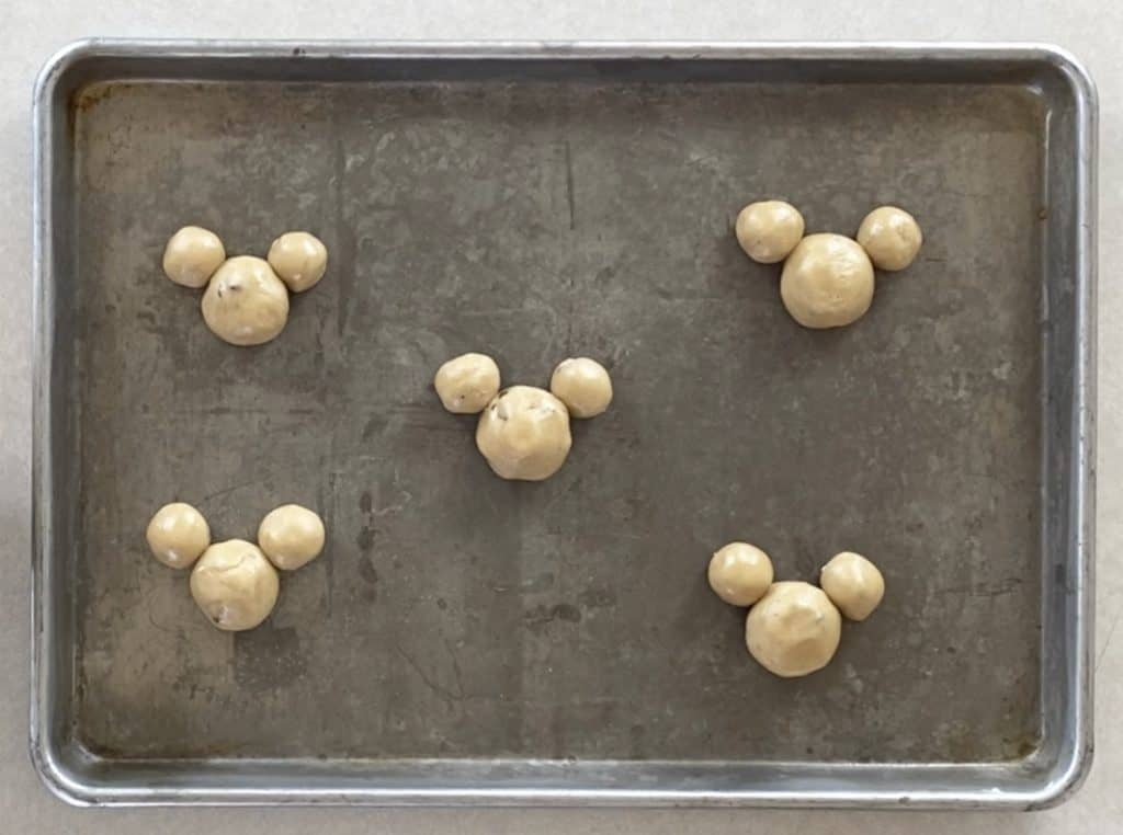 Mickey Shaped Cookie Dough